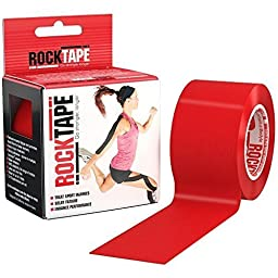 RockTape Kinesiology Tape for Athletes - 2-Inch x 16.4-Feet (Red)