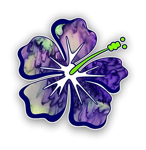 Hibiscus Flower Hawaiian Vinyl Sticker