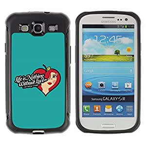 Hybrid Anti-Shock Defend Case for Samsung Galaxy S3 / Life & Love