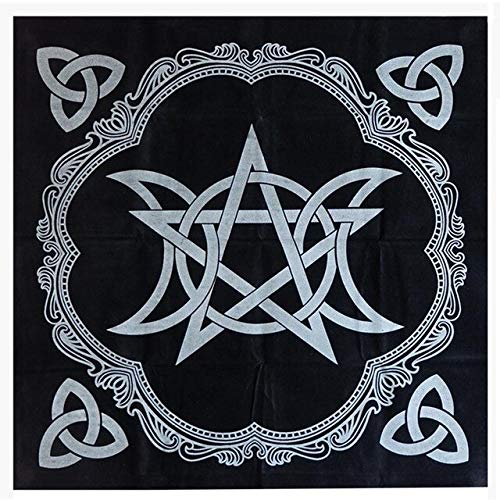 3 Style 49x49cm Tarot Tablecloth Triple Moon Pentagram Pagan Altar Tarot Cloth Flannel Board Game -1