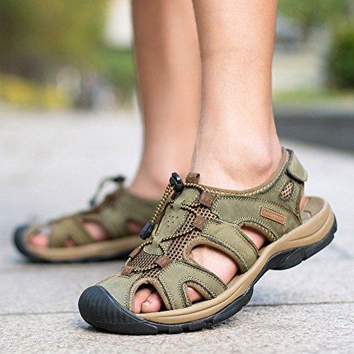 Transpirable De Sandalias Recortes De Sandalias Aire Libre Hombre Moda De Zapatos Playa Khaki Zapatos Al F40SORq
