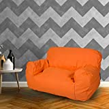 Dporticus Mini Lounger Sofa Bean Bag Chair Self-rebound Sponge Double Child Seat  35.4'' x 19.7'' x 19.7''  Orange
