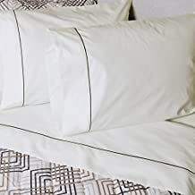 """30x75 Camper/ RV Bunk Sheet set BONE with Mahogany Brown trim from AB Lifestyles' """"Traveler Collection"""""""