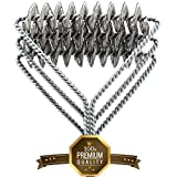 Easybrsh Grill Brush And Scraper Grill Brush Bristle Free - Grill Brsh 18' For Porcelain Grates Outdoor Stainless Steel Grill Cleaner Tool - BBQ Safe Scraper Barbeque Cleaning Accessories Stainl