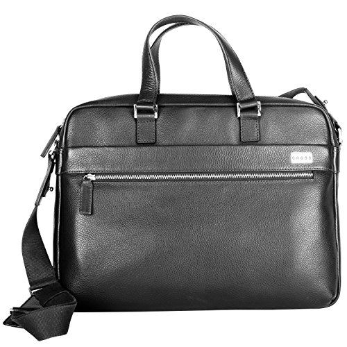 Cross Men's Leather Slim Briefcase / Office / Laptop Bag - Black (AC021023-1) by Cross