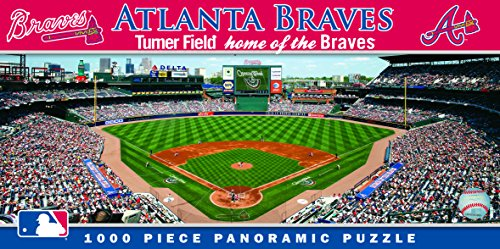 MasterPieces MLB Atlanta Braves Stadium Panoramic Jigsaw Puzzle, 1000-Piece ()