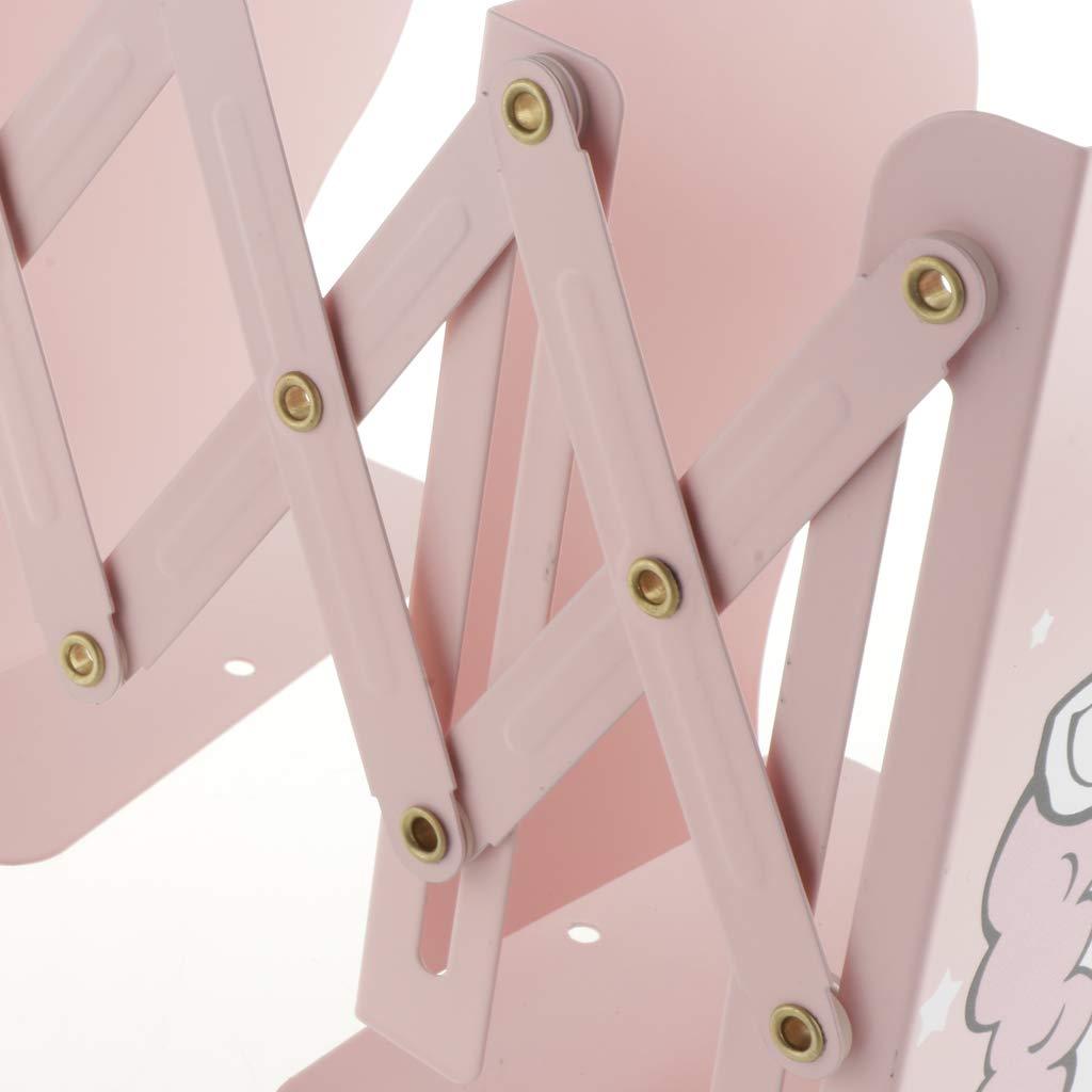 FLAMEER Unicorno Fermalibri Reggilibri in Metallo Resistente E Design Moderno Regolabile con Base Antiscivolo Come descritto Rosa