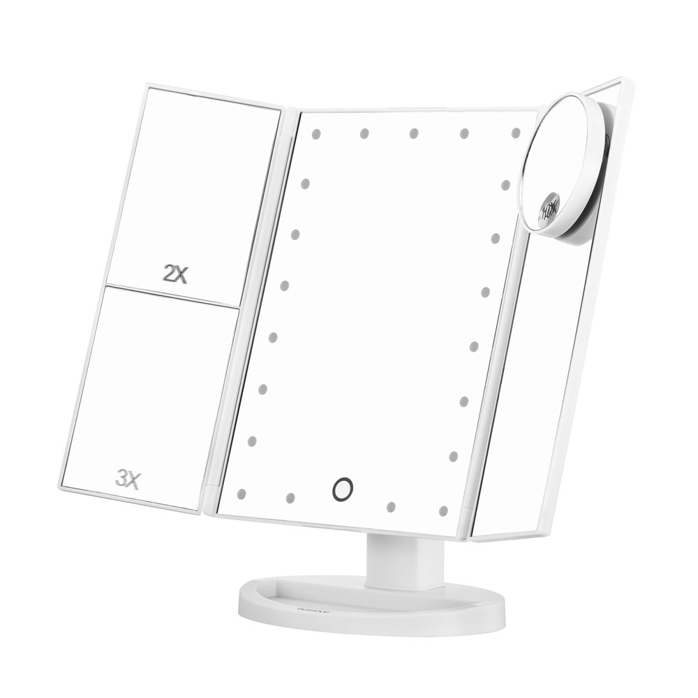 butyface lighted makeup mirror touch screen lighted vanity mirror with. Black Bedroom Furniture Sets. Home Design Ideas