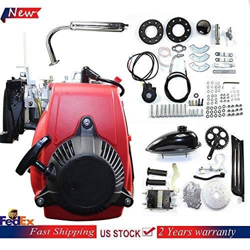 49cc 4-Stroke Gas Motor Bicycle Engine Kit, Single Cylinder Air-cooled Bicycle Engine Motor Kit Scooter, Motor Cycle Engine Complete Kit Fits Normal 28