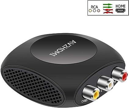 Convertidor de AV a HDMI, Ozvavzk 3 RCA Compuesto Adaptador HDMI Admite el cambio de 720 / 1080p para PC Portátil Xbox PS4 PS3 TV STB VHS VCR Cámara DVD.: Amazon.es: Electrónica