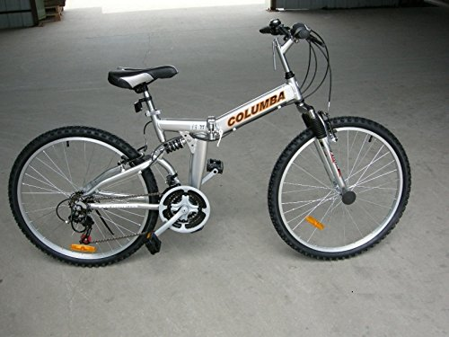 "Columba 26"" Alloy Folding Bike w. Shimano Silver (RJ26A_SLV)"