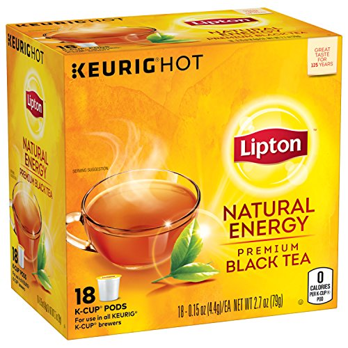 Lipton K-Cup Black tea K-Cup Natural Energy 18 ct, pack of 4