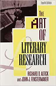 The art of literary research richard altick