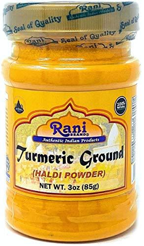 Rani Turmeric (Haldi) Root Powder Spice, (High Curcumin Content) 3oz (85g) ~ All Natural | 100% Pure, Salt Free | Vegan | Gluten Friendly Ingredients | NON-GMO | Indian Origin