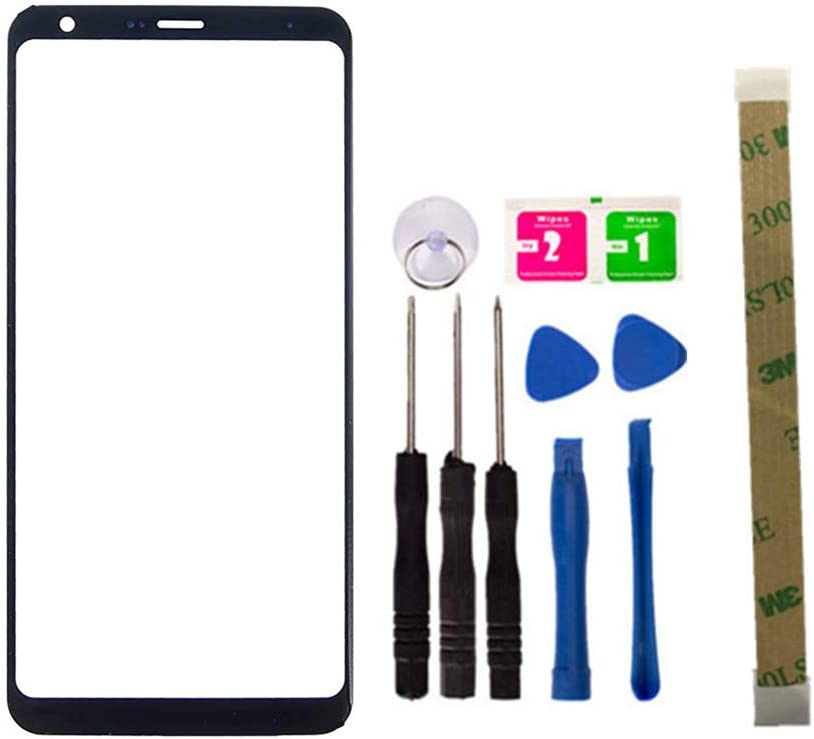 Replacement Screen Repair Front Outer Top Glass Lens Cover for LG Stylo 4 Q710 Q710MS Mobile Phone Parts and Tools Adhesive (No LCD and Touch Digitizer)
