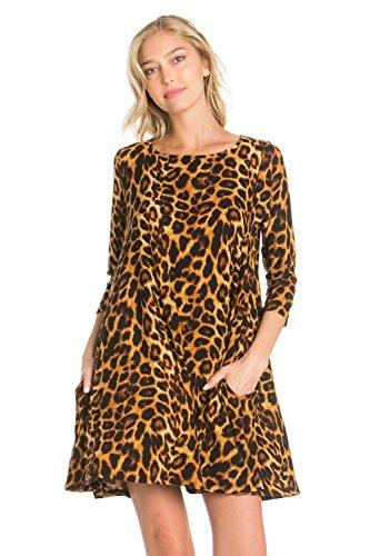 cheetah print cocktail dress - 6