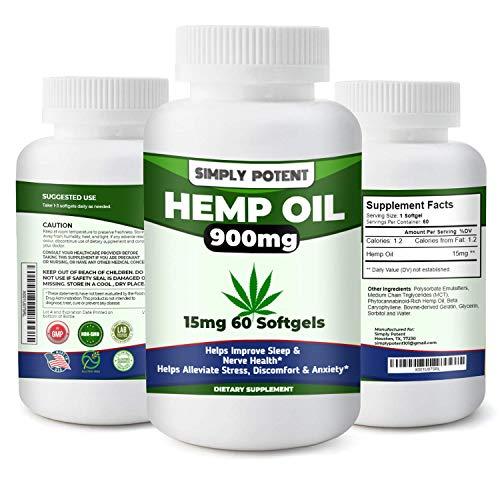 900mg-Hemp-Oil-Capsule-for-Pain-Relief-Hemp-Oil-Softgel-Hemp-Oil-Capsule-from-Colorado-Grown-Hemp-for-Stress-Anxiety-Relief-Healthy-Sleep-Mood-Brain-Health-15mg-60-Softgels