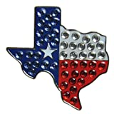 Navika Texas Flag Swarovski Crystal Ball Marker with Hat Clip