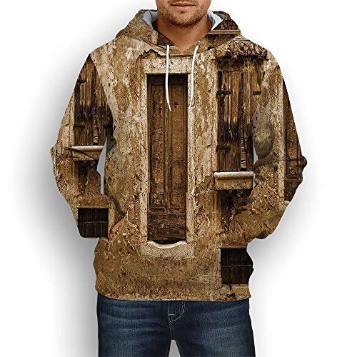 Coaballa 3D Print,Shutters Decor,Hoodies for Men ()