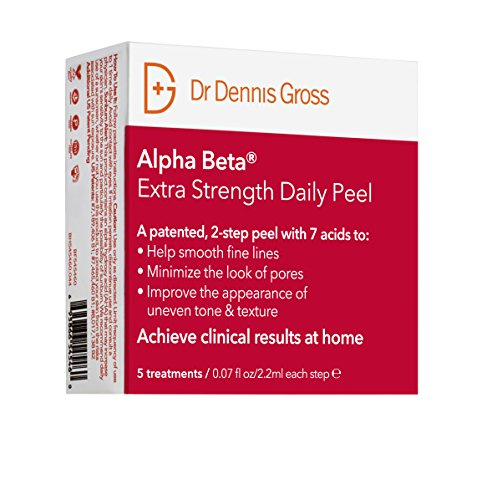 Dr. Dennis Gross Skincare Alpha Beta Daily Face Peel, Extra Strength, 5 Count