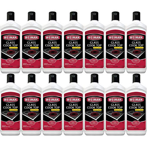 Weiman Glass Cooktop Heavy Duty Cleaner & Polish - Shines and Protects Glass/Ceramic Smooth Top Ranges with its Gentle Formula - 15 Oz, Pack of 14 by  (Image #1)