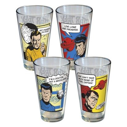 Star Trek Glass Tumblers  Set of 4 16oz.