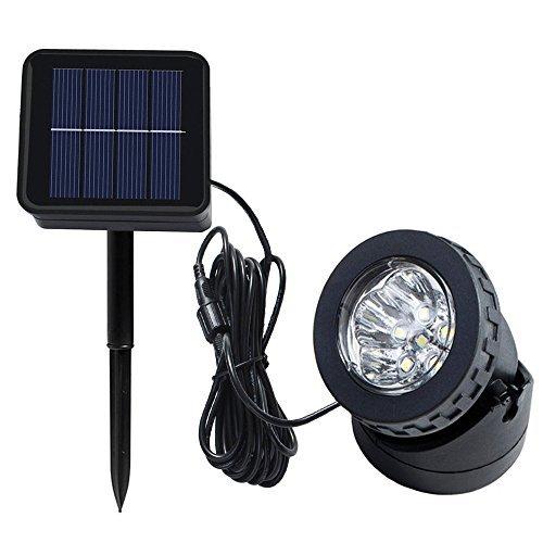 Heansun Solar LED Landscape Spotlight, Pond Light Underwater Light Auto On/Off for Outdoor Garden Courtyard Lawn Fish Tank Pool Landscape Lighting, Adjustable Lighting Angle [並行輸入品] B07R9S4SPP