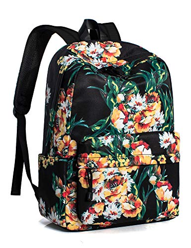 Leaper Chic Water Resistant School Backpack for Girls 14Inch Laptop Black