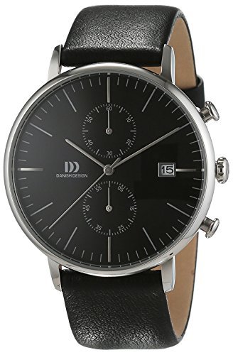 Danish Design Men's IQ13Q975 Black Leather Chronograph Watch
