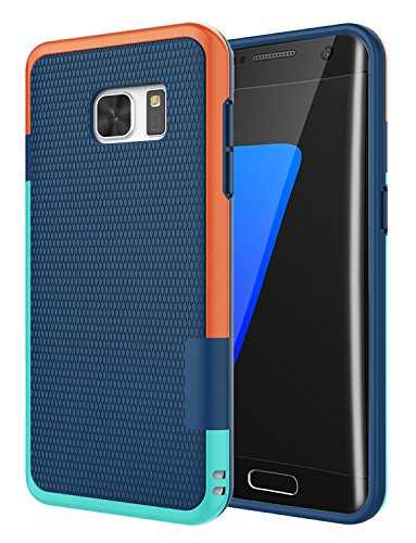 Galaxy S7 Edge Case, Jeylly [3 Color] Slim Hybrid Impact Rugged Soft TPU & Hard PC Bumper Shockproof Protective Anti-slip Case Cover Shell for Samsung Galaxy S7 Edge S VII Edge G935 - Blue