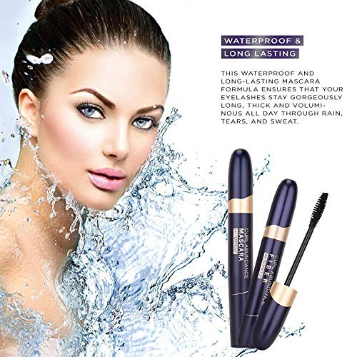 St Mege 4D Silk Fiber Lash Mascara  Fiber 2in1 Set Best for Thickening and Lengthening Waterproof