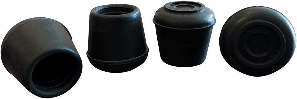 Shepherd Hardware 9124 1/2-Inch Inside Diameter Rubber Leg Tips, 4-Pack, Black