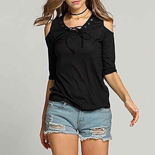 paule shirts Casual Bandage Slim LAEMILIA Longue Noir Tops Chemise Sexy Manche Femme Tunique T Nue Shirt Hauts Blouse w1gSqRI