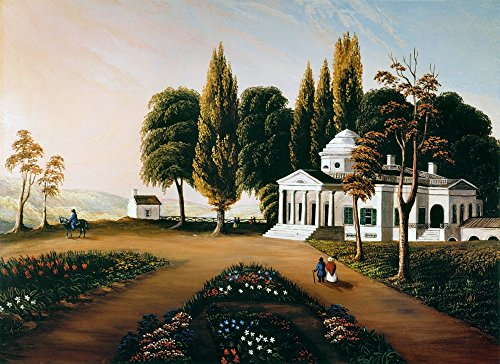Monticello Nthe Home Of Thomas Jefferson Near Charlottesville Virginia Oil On Canvas 19Th Century By An Unknown Artist After The Painting By George Cooke Poster Print by (18 x 24)