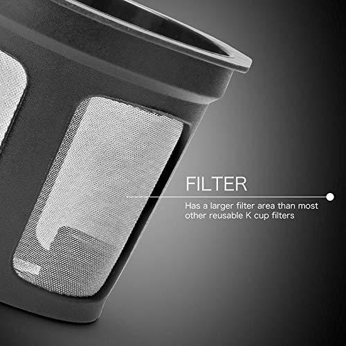 FOONEE 8pcs Reutilizables Filtros De Caf/é De Malla Plateada para Keurig Plus 2.0 Y Classic 1.0 Brewers F/ácil De Usar Filtros De Caf/é De Una Taza Recargables