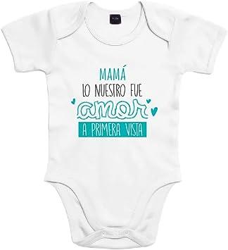 SUPERMOLON Body bebé algodón Mamá, lo nuestro fue amor a primera ...