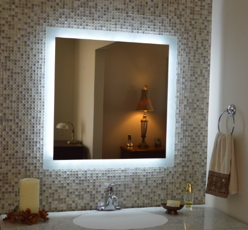 Mirrors and Marble MAM93636 Commercial Grade 36x36 Side Lighted Mirror by Mirrors and Marble