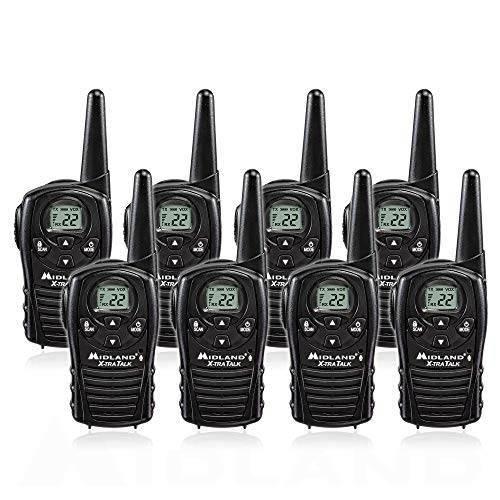 Midland LXT118 FRS Walkie Talkies with Channel Scan - Up to 18 Mile Range Two Way Radio - Black (Pack of ()