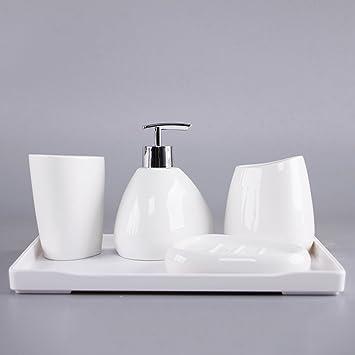 Home & Style 4 Badezimmer-Zubehör-Set enthält Seifenspender, Tasse ...