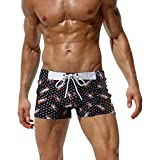 AustinBem Swimwear Men Lipstick Printing Swim Short Gay Men Swim Briefs
