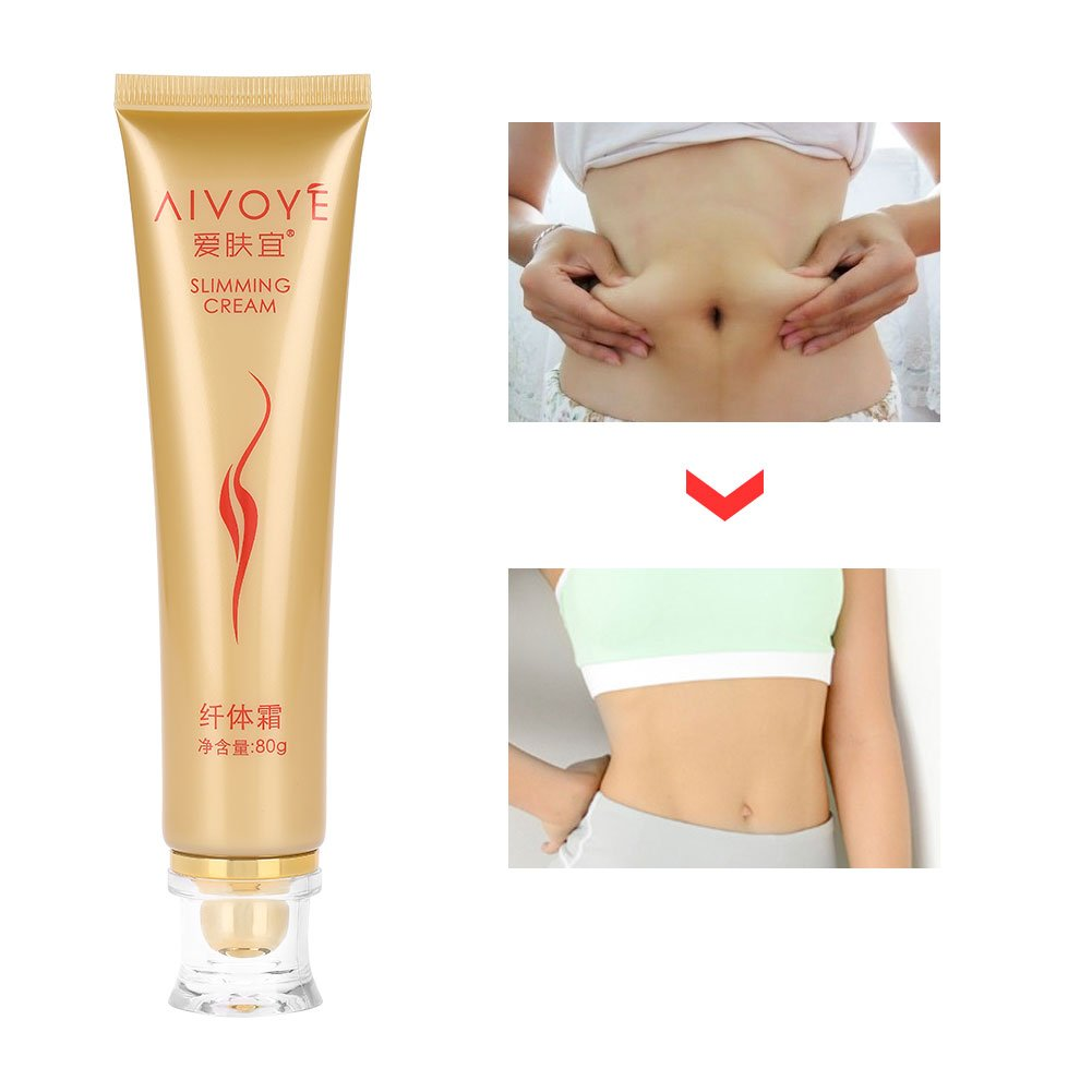 Slimming Creams, Effective Natural Body Fat Burning Gel Loss Weight Shaping Anti-Cellulite Treatments Men & Women Belly Burner, 80g Filfeel