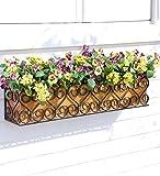 Decorative Iron Scroll Window Box