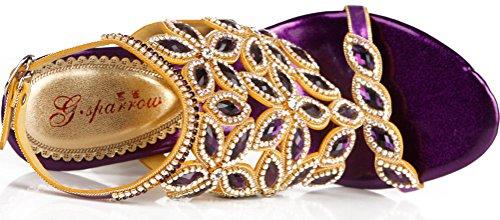 Femme Arriere Bride Purple st Salabobo zZOHw
