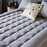 SONORO KATE Mattress Pad Cover Twin Size Down Alternative Mattress Topper Fitted Quilted (8-21-Inch Deep Pocket)- Hypoallergenic -(Twin, Dark Grey)