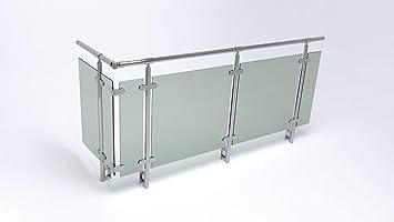 Edelstahl Glas Balkon Gelander Seitenmontage Amazon De Baumarkt