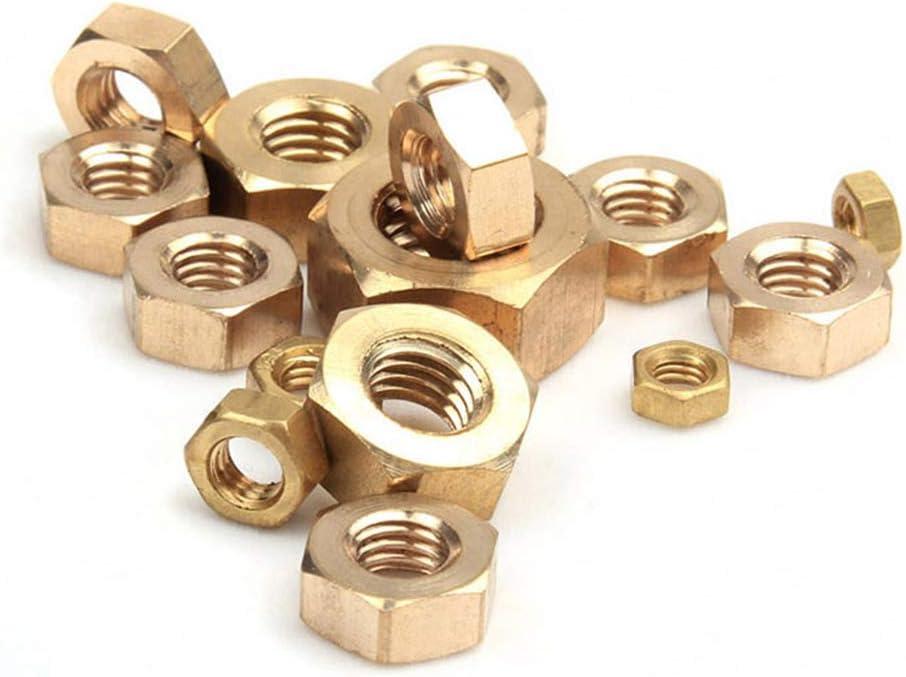 Copper Hex Lock Nut Metric Thread Hardware Fasteners Tools M1.6 Xiedeai Hexagon Head Lock Nuts
