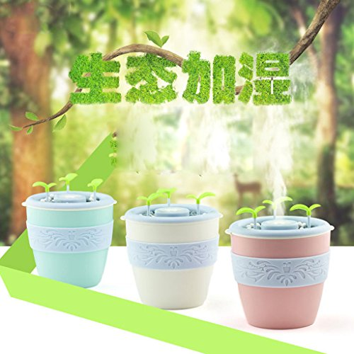 Blesiya USB Potted Essential Oil Diffuser Humidifier for Office Home Study Yoga Spa - Pink by Blesiya (Image #4)