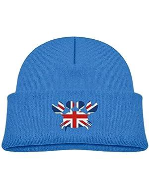 Fashion British Flag Crab Printed Teething Baby Winter Hat Beanie