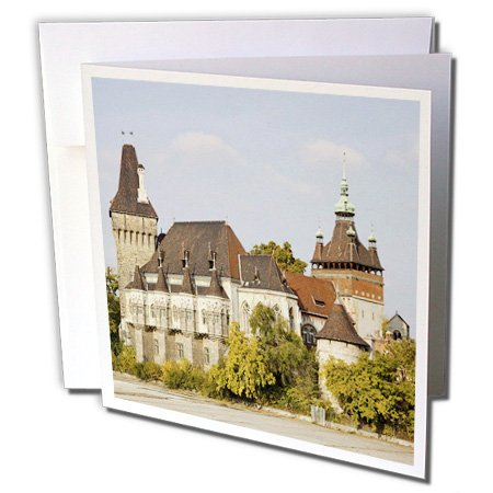 - 3dRose Danita Delimont - Castles - Vajdahunyad Castle in Budapest during fall, Hungary - EU13 MZW0299 - Martin Zwick - 6 Greeting Cards with envelopes (gc_137388_1)