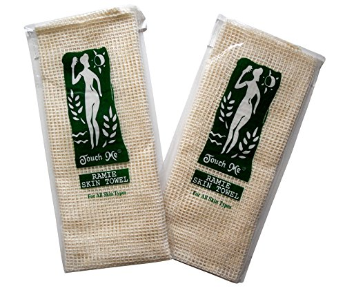 2-pack Touch Me Exfoliating Spa Bath Ramie and Sisal Skin Towel ()